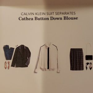 Calvin Klein Cathea Button Down Blouse